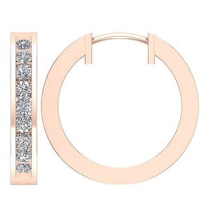 14k Rose Gold Unique Style Inside Outside Earring