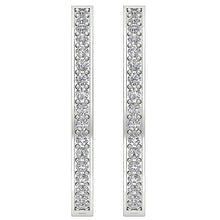 Load image into Gallery viewer, Antique Style Inside Outside Earring 14k White Gold