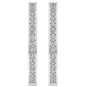 Antique Style Inside Outside Earring 14k White Gold