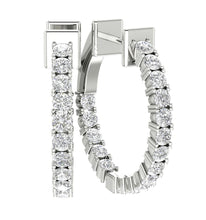 Load image into Gallery viewer, 14k White Gold Large Hoop Earring Set