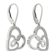 Load image into Gallery viewer, 14k White Gold Vintage Large Hoop Earring