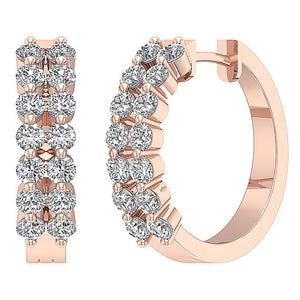 14k Rose Gold Large Hoop Earring Set