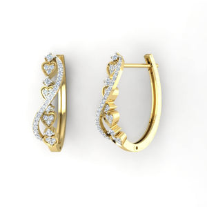 14k Yellow Gold Vintage Medium Hoop Earring
