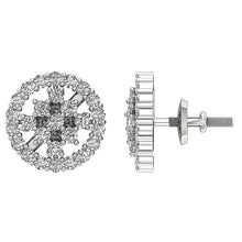 Load image into Gallery viewer, Unique Style Genuine Diamond Earring 14k Gold