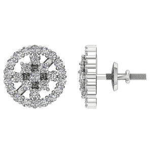 Unique Style Genuine Diamond Earring 14k Gold