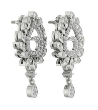 Load image into Gallery viewer, 14k White Gold Genuine Diamond Earring Set