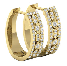 Load image into Gallery viewer, 14k Yellow Gold Vintage Genuine Diamond Earring