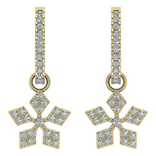 Load image into Gallery viewer, 14k Yellow Gold Genuine Diamond Earring