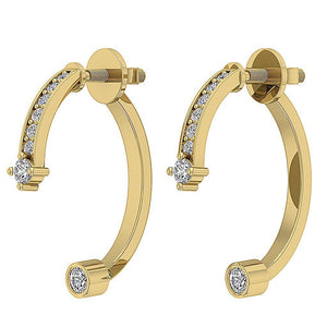 14k Gold Unique Style Natural Diamond Earring