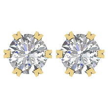 Load image into Gallery viewer, Genuine Diamond Earring 14k Yellow Gold