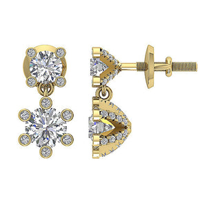 14k Yellow Gold Vintage Style Earring Set