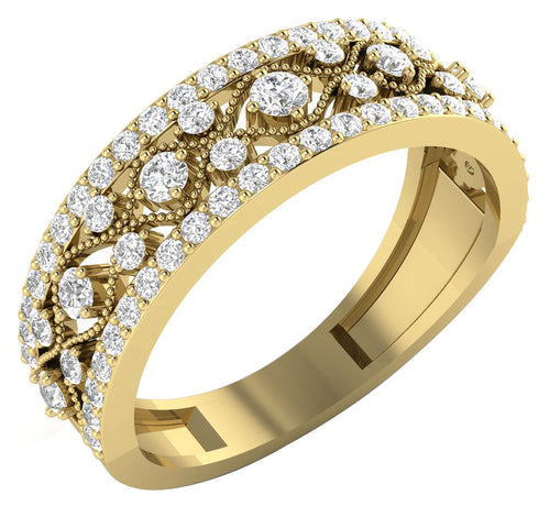 WeddingYellowGoldDiamondRing-WR-450