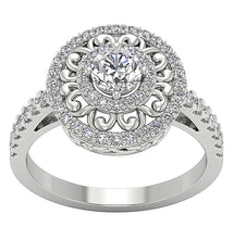 Load image into Gallery viewer, Vintage Designer Anniversary Ring Natural Diamond-SR-927