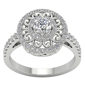 Vintage Designer Anniversary Ring Natural Diamond-SR-927