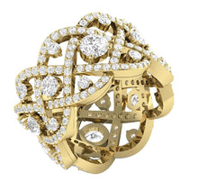 Load image into Gallery viewer, 14k Yellow Gold Eternity Round Diamond Ring-DETR210