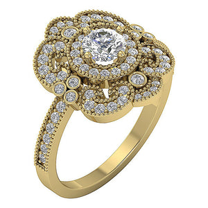 Solitaire Engagement Ring 14K Yellow gold-SR-1151-2