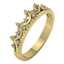 Load image into Gallery viewer, Designer Wedding Ring I1 G 0.20 Ct Natural Diamond 14k White Yellow Rose Gold