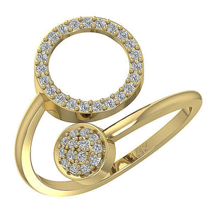 GenuineDiamondYellowGoldRing-WR-541