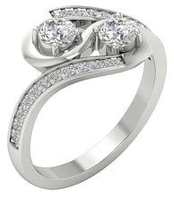 Load image into Gallery viewer, AnniversaryWhiteGold14KRing-SR-1186