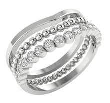 Load image into Gallery viewer, FashionWhiteGoldRing-WR-504