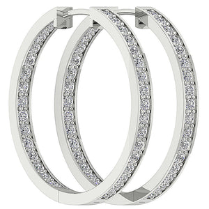 Inside Outside Hoop Earring Set 14k Gold