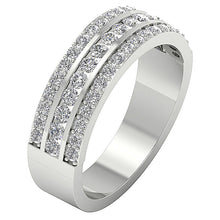 Load image into Gallery viewer, WhiteGoldGenuineDiamondRing-WR-499