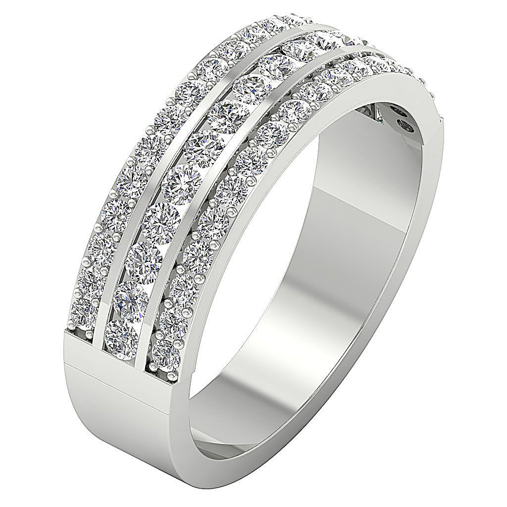 WhiteGoldGenuineDiamondRing-WR-499