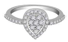 Load image into Gallery viewer, 14K Solid Gold Genuine Diamond Ring Top View-RHR 140-3