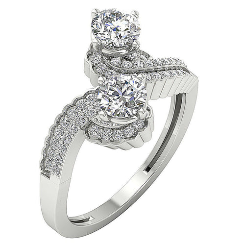 Two Stone Ring-DSR512
