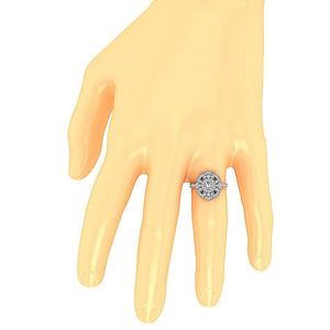 Solitaire Anniversary Ring Gold on Hand-SR-1151-6