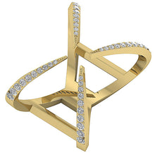 Load image into Gallery viewer, FashionDiamondYellowGoldRing-DWR254