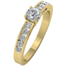 Load image into Gallery viewer, Yellow Gold Accent With Solitaire Ring-DSR62