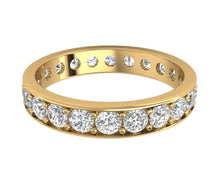 Load image into Gallery viewer, Natural Diamond Eternity Ring 2.20 ct 14k Gold Prong Set Stackable Band
