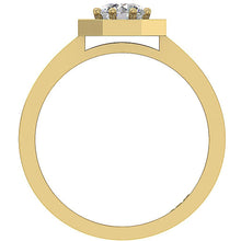 Load image into Gallery viewer, Yellow Gold Front View 14K Prong Setting-DSR232