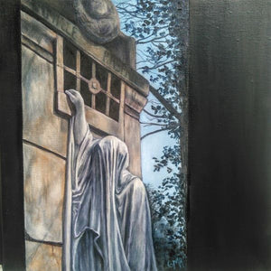 "Dead Can Dance Album Cover Art - Within the Realm of a Dying Sun, Oil on Canvas 18"" x 18"""