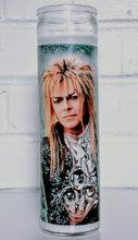 "Saint Jareth the Goblin King Prayer Candle, 8"" glass jar votive"