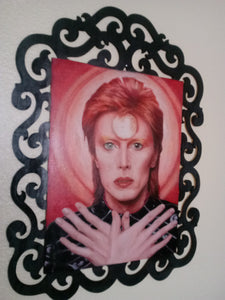 "David Bowie Painting, Oil on Wood, 15"" x 20"""