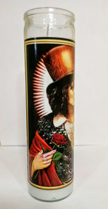 "St. Marc Bolan of T. Rex Prayer Candle, 8"" glass jar votive"