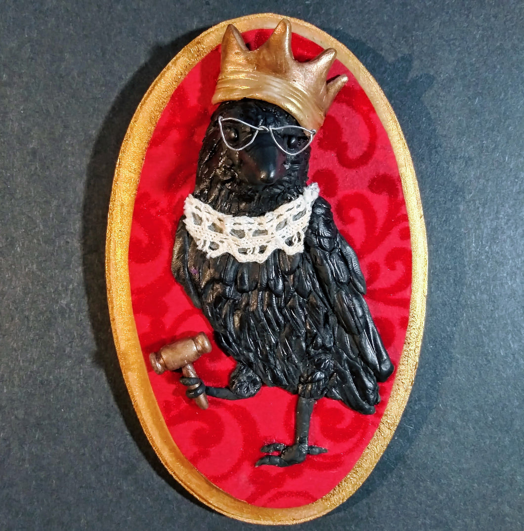 The Notorious RBG, Ruth Bader Crow-burg, Sculpted Wall Art