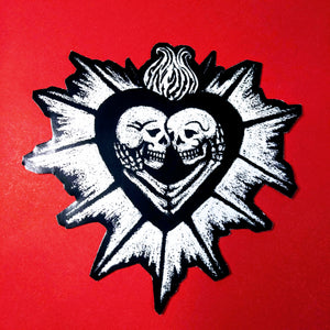 Skulls in Love, Immortal Beloved, Gothic lovers, Punk Rock, Sticker
