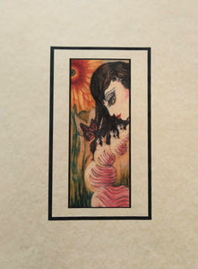 The Cure, Caterpillar Girl inspired Art Print, Gothic Surreal, Acid Free, various sizes