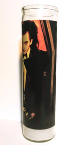 "Dave Vanian, Altar Candle, 8"" glass jar votive, Lord of the Damned"