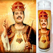"St. Freddie Mercury Prayer Candle, 8"" glass jar votive candle, Queen of the Champions"