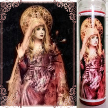 "Saint Stevie Nicks Prayer Candle, 8"" glass jar votive, High Priestess of Twirl"