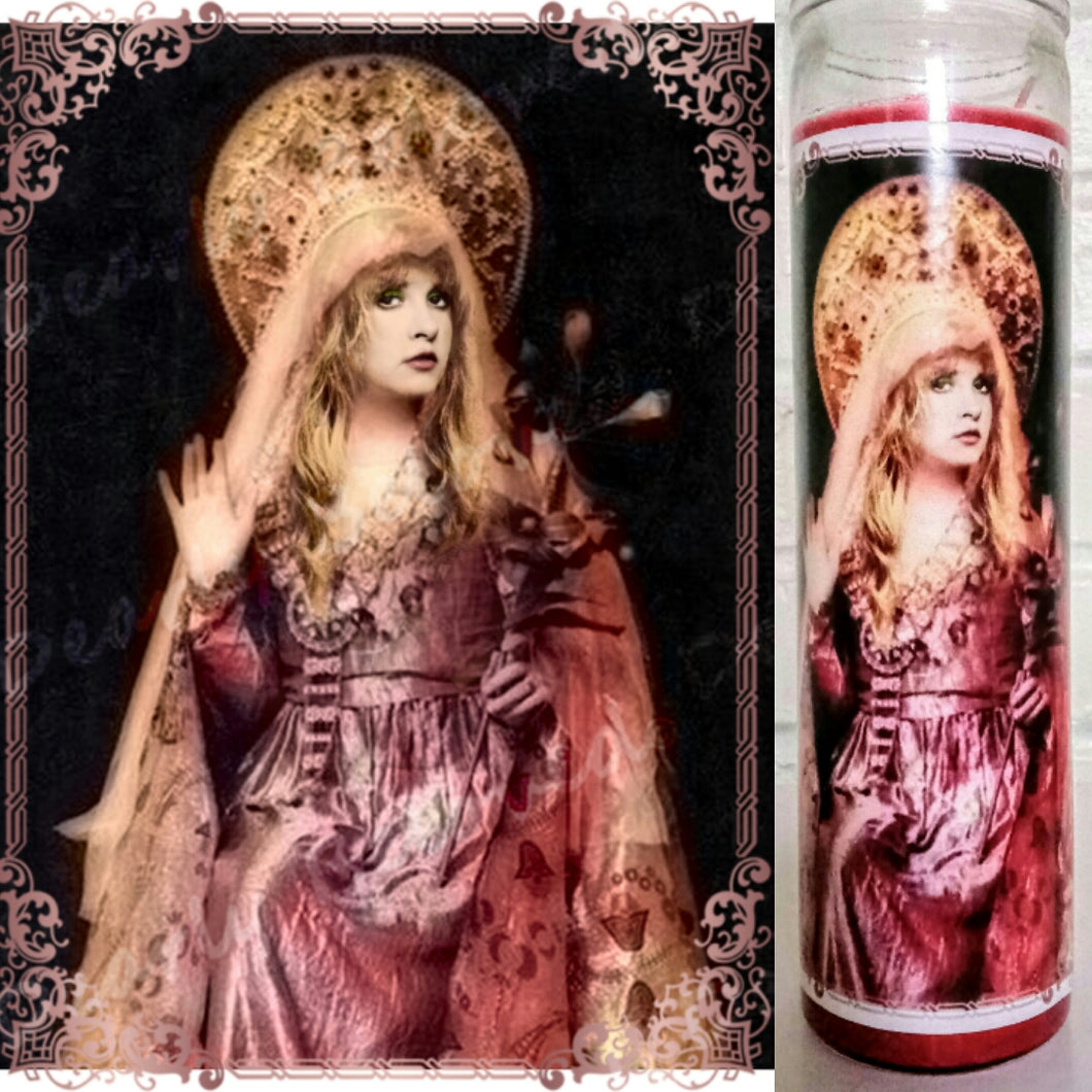 Saint Stevie Nicks Prayer Candle, 8