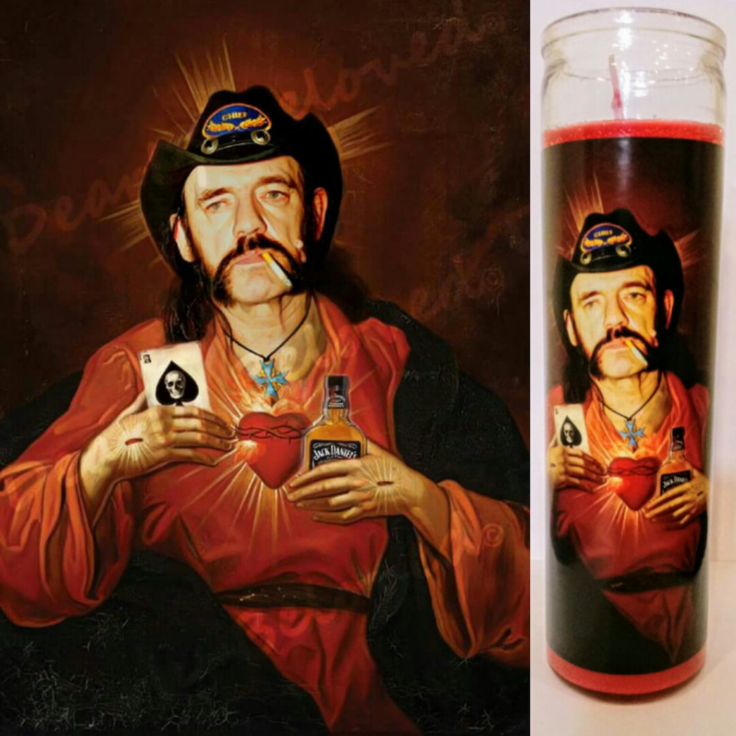 St. Lemmy Kilmster Prayer Candle, 8