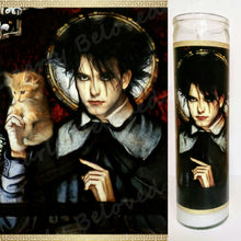 "St. Robert Smith Prayer Candle, 8"" glass jar altar candle, Saint of the Lovecats"