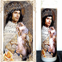 "St Freddie Mercury, 8"" glass jar votive candle, Find Me Somebody to Love"