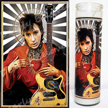 "St. Johnny Thunders, 8"" glass jar devotional candle, Saint of the Heartbreaking M.F.s"