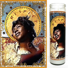 "Saint Aretha Candle, 8""glass jar votive, Queen of R-E-S-P-E-C-T"